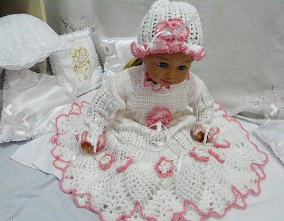 Baptism gown Christening Crochet Kit baptism crochet baptism
