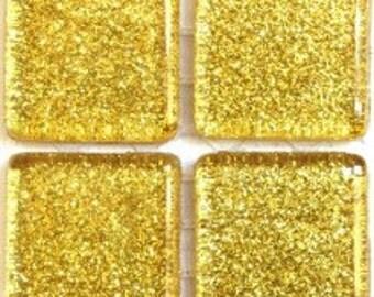 """Gold Glitter Tile116- 3/4"""" 25 pc"""