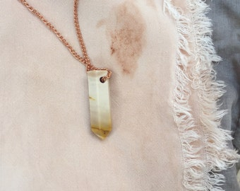 Sand Ombre Stone Talisman Necklace