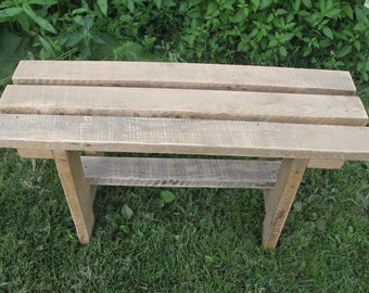 Reclaimed Oak Wood Bench, Rustic Wooden Bench, Garden Bench, Country Decor, Entry Way Bench , Cottage Bench ,Farmhouse Decor, Oak Furniture