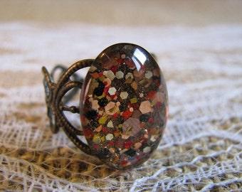 Fall Colors Nail Polish Ring