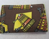 Dalek Credit Card Wallet, Doctor Who, Whovian, Daleks, Dalek Robot, Time Lord, Tardis,  Business Card Holder, Small Wallet, Gift Card