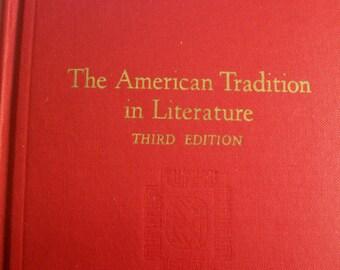 Book, The American Tradition In Literature 3RD Edition, Norton Book