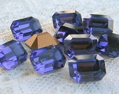8x6 Octagon Swarovski Rhinestone Purple Tanzanite Machine Cut