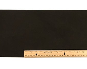 Scrap LACE LEATHER BLACK Cowhide 18 x 7 inches