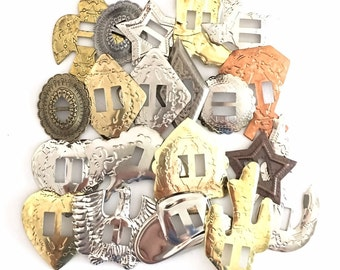 CONCHOS GRAB BAG Mixed Western Shapes 50 pcs
