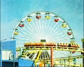 Ferris wheel, kids room art, carnival art photo, nursery decor, kids room, Santa Monica