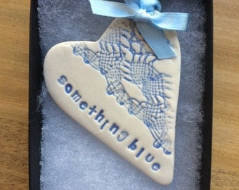 something blue good luck bride on wedding day or hen night bachelorette party bridal shower