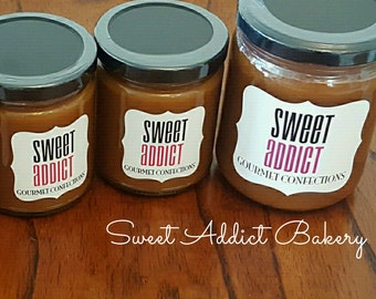 BUTTERSCOTCH Caramel Sauce - Great for fruit, coffee, ice cream and more - Make great gifts - CHRISTMAS, BIRTHDAY, thank you, wedding