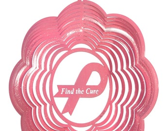 Find the Cure Swirly Metal Wind Spinner