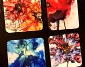 Drink Coasters, Barware Coasters, Drink Coasters with Art