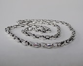 NAUTICAL handcrafted sterling silver chain, men chain