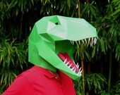 Dinosaur Mask - Make Your Own T-Rex with just Paper and Glue! | Paper Mask | DIY Mask | Tyrannosaurus Mask | Halloween Mask