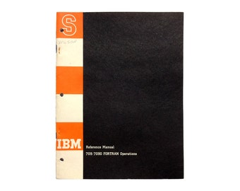Paul Rand (attributed) book cover design, 1959-61. IBM Reference Manual: 709/7090 FORTRAN Operations