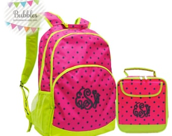 MONOGRAM INCLUDED Girls' Watermelon Backpack and Lunchbox Set!