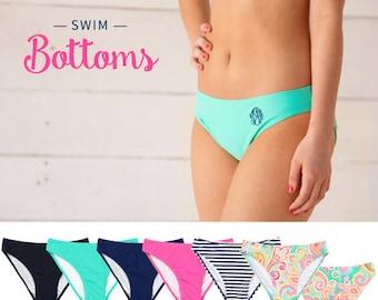 Monogrammed Swim Bottoms