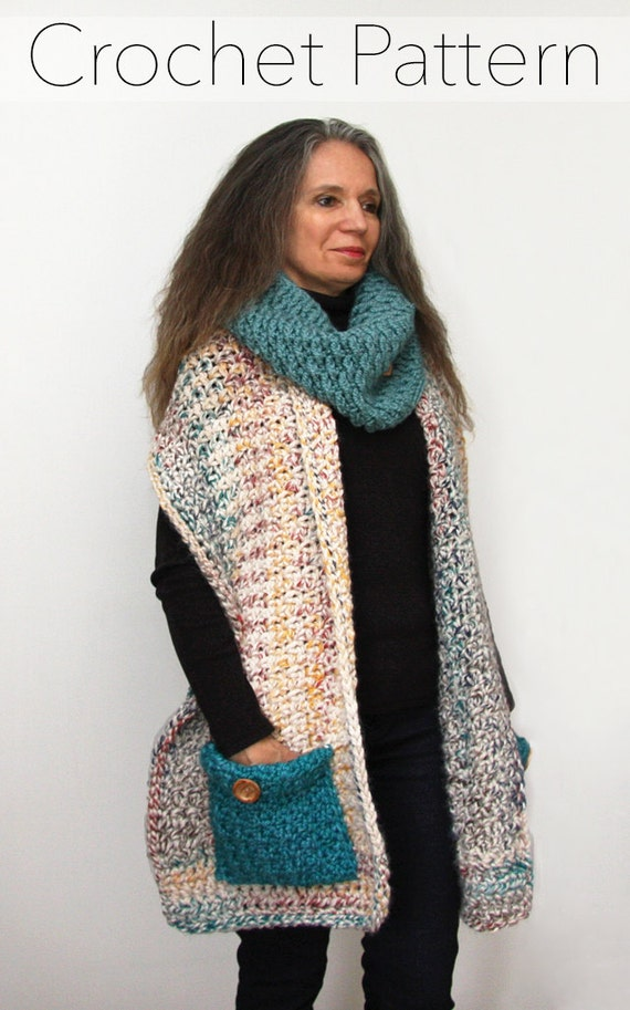 Reader S Wrap Crochet Pattern Pocket Shawl Pdf Made