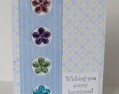Wishing You Every Happiness Spring Flowers Birthday Card