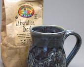 Blue Fish Stoneware Mug