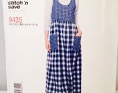 Uncut, Misses Jumper Dress Sizes 4 6 8 10 12 14, Easy Stitch n Save McCalls 9435, Modest, Teacher Dress, Farm Wife, Country Girl, Winter