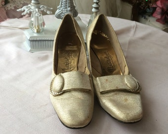 Stunning Never Worn Gold Shoes