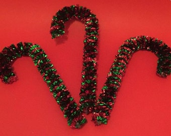 7 Vintage Christmas Candy Cane Decorations