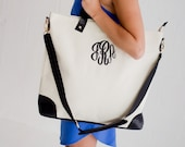 Monogrammed tote bag,special listing