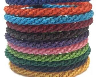 Fair Trade Wax Cotton Cord Adjustable Friendship Thai Buddhist Wristband Handcrafted Wristwear