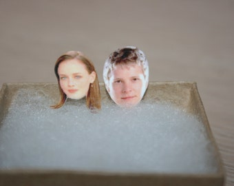 Gilmore Girls Stud Earrings, Rory and Logan,Alexis Bledel,Matt Czuchry,Television, Celebrity Jewelry,Stars Hollow
