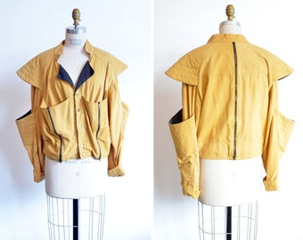 Vintage 1980s AVANTE GARDE linen jacket