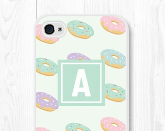 Vintage iPhone 6 Case Hipster Doughnut iPhone 6s Case Monogram Samsung Galaxy S7 Case Mint iPhone SE Case Doughnut iPhone 5 Case iPhone 5c