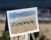 DANCE Cards, Beach cards, beach stones, card for dancer, uplifting note card, dance teacher gift, dance recital, beach writing, coastal art