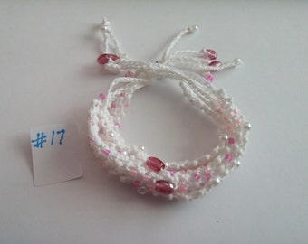 Beaded Crochet Love Knots Bracelet - Group # 17