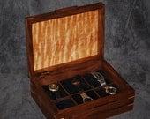 Walnut Watch Box- holds 6 watches