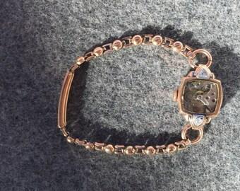 Vintage Rose Gold Watch Bracelet