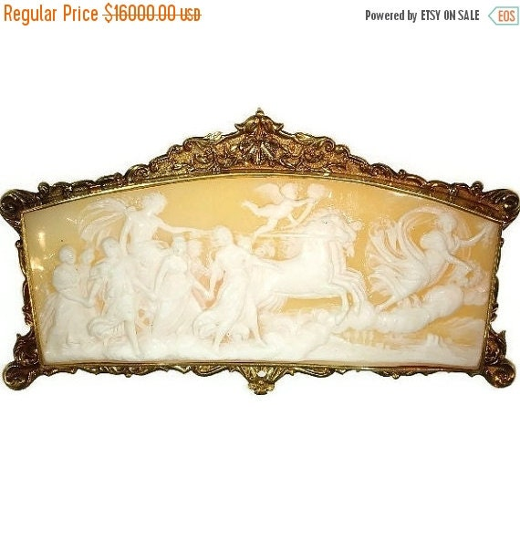 30% Off Sale Antique French cameo gold mounting Baroque