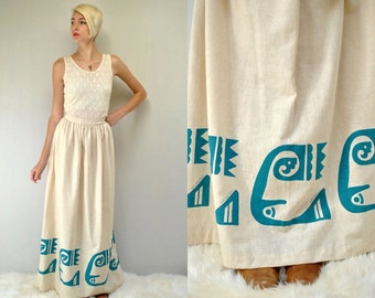 Linen Skirt  //  Dirndl Skirt  //  Maxi Skirt  //  THE EDGE