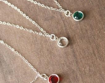 Tiny Necklace,Tiny Drop,Silver Necklace,Tiny Sparkle Necklace,Dainty Silver Necklace,Layering Necklace,Bride Necklace,Wedding