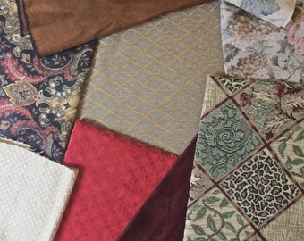 Lot of Upholstery Fabric Variety of Colors and Textures Quiltsy Destash Party