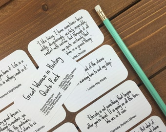 Strong Women Quotes for Girls, Inspiring Quotes, Lunchbox Notes, Sister Gift, Strong Girl Gift, Girlfriend Gift - Set of 8 Mini Quote Cards