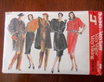 80s vintage Vogue uncut pattern 990 - Very Easy Very Vogue Very Viking, shoulder pad jacket, blouse, skirt, pants