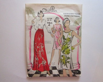 vintage pattern - Alfred Shaheen Hawaii - Hawaiian Panel Print Patterns - No. 101, sizes 6 to 18 - uncut