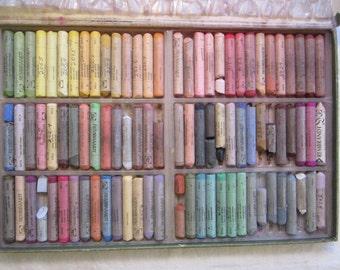 vintage Talens REMBRANDT soft pastels - 90 stick size, used