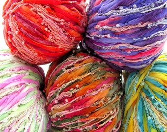 Karabella Jewels Yarn - Sparkly Thick Thin Novelty Yarn - Choice of Colors