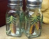 Pine Cone Salt & Pepper Shakers by Lisa Hayward Painted Glass Pinecone Salt and Pepper Shakers