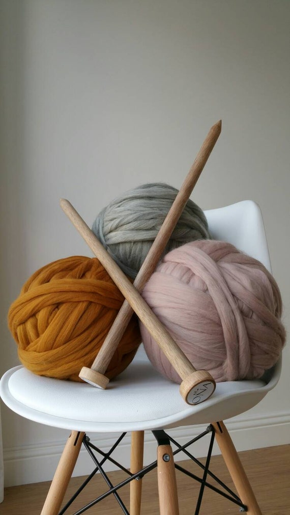 Giant Knitting Needles Uk : Giant knitting needles size mm diameter for chunky