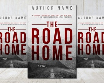 """Premade Digital eBook Book Cover Design """"The Road Home"""" Thriller Suspense Mystery Horror Literary Adult Fiction"""