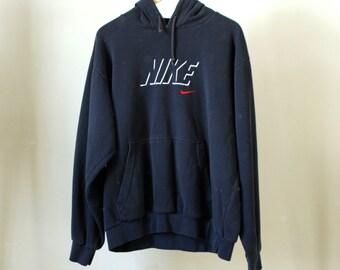 vintage NIKE 90s swoosh Michael Jordan era Embroidered HOOPS nba basketball football sweatshirt