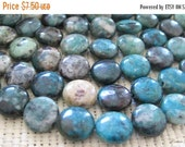 """20% OFF ON SALE 8"""" long (14 pcs) Chrysoprase Coin Disc 12mm Beads"""