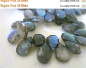 20% OFF ON SALE Reserved for N: 20 Percent Off On Sale Labradorite Faceted Briolette 11mmx7mm, 4 pcs, Gemstone Beads